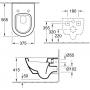 Унитаз подвесной Villeroy & Boch + крышка Slimseat Soft Closing (56001001+9M78S101)