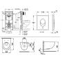 Инсталляция Grohe Rapid SL 38721001 + Унитаз Laufen Pro Rimless H8669570000001 + Сиденье Slim Soft-close