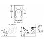 Унитаз подвесной Villeroy&Boch Venticello 4611RS01 + cидение SoftClosing 9M79S101