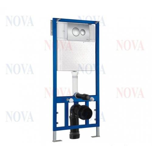 Система инсталляции Novaplastik Nova 4501, с кнопка смыва хром