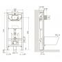 Инсталляция с унитазом: Imprese 3в1 i8122B + Creavit Free Rim-Off FE322-11CB00E-0000 + сиденье Soft Close KC0903.02.0000E