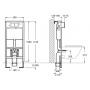 Инсталляция для подвесного унитаза Roca PRO A890090020 +  кнопка хром